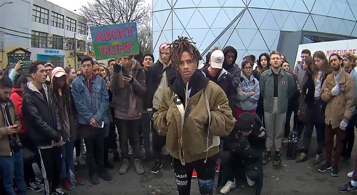 JADEN SMITH LEADS GROWING PROTEST HEWILLNOTDIVIDE.US IN NEW YORK CITY